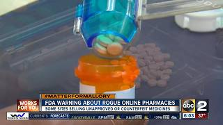 FDA warns about rogue online pharmacies