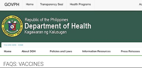 Remember Vaccine Not Mandatory in the Philippines!!!