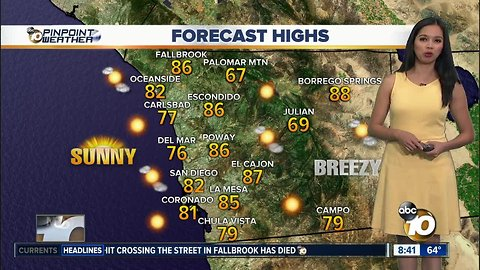 10News Pinpoint Weather for Sat. Oct. 20, 2018