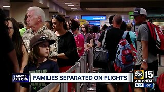 Families separated on flights during busy holiday season