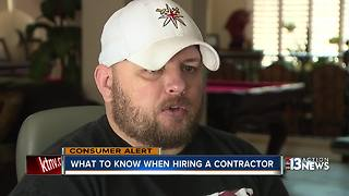 What you should know before hiring a contractor | Contact 13 consumer alert - Video