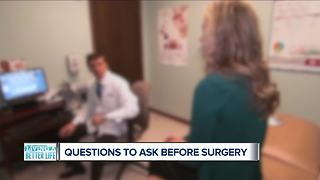 What are the questions to ask before having an operation?