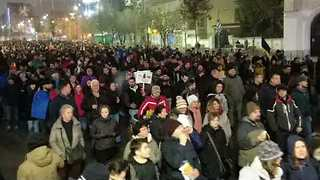 Thousands March Through Bucharest to Protest Against Planned Judicial Reform - Video