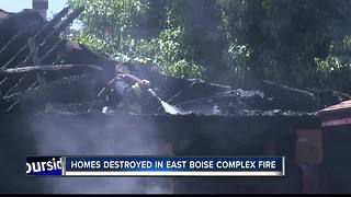Fire crews battle multi-home duplex fire in East Boise - Video