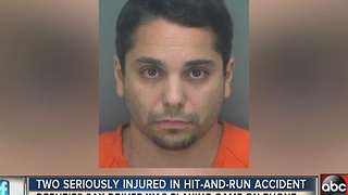 Two seriously injured in hit-and-run accident, man was playing 'Pokemon Go' - Video