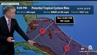 Potential Tropical Cyclone 9 likely to become Tropical Storm Isaias