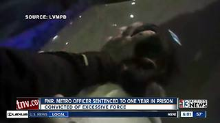 Former Las Vegas police officer guilty of excessive force gets one year in prison - Video