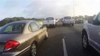 Motorbike Skips Past Several Cars in Crazy Time-Lapse - Video