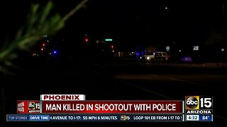Man shot, killed by Phoenix police - Video