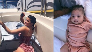 WATCH: Kylie Jenner, Travis Scott And Baby Stormi 1st Family Vacation In The Bahamas! - Video
