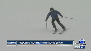 Colorado ski resorts hoping for more snow - Video