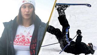 OUCH! Bella Hadid Gets a Face Full of Snow After Fall While Skiing