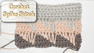How to Crochet the Spike Stitch Beginner Friendly Single Crochet Pattern