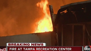 Fire at Tampa recreation center, Winston Park Recreation Center - Video
