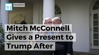 Mitch McConnell Gives A Present To Trump After Monumental Passing Of Gop Tax Bill - Video