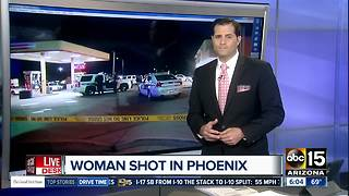 Phoenix police: Woman shot and wounded while in parked car