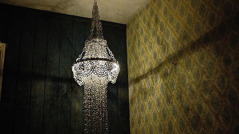 DIY Chandelier Made From Hundreds Of Can Tabs