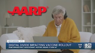 Digital divide impacting COVID-19 vaccine rollout
