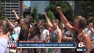Rally for change after two Indianapolis police officers shot and killed Aaron Bailey - Video