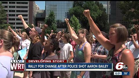 Rally for change after two Indianapolis police officers shot and killed Aaron Bailey
