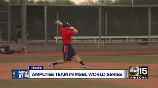 All amputee team partaking in adult baseball league - Video