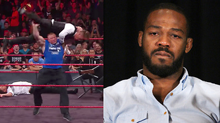 Brock Lesnar Sends Jon Jones Message with F5 & Suplex City Party on WWE RAW - Video