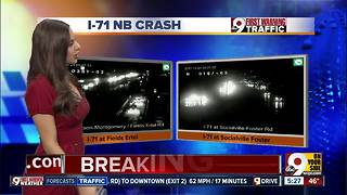 Northbound I-71 closed by 3-vehicle crash - Video