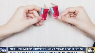 Get unlimited Wendy's Frosty's in 2017 for $2 - Video