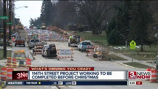 Construction on 114th Street expected to be finished by Christmas