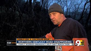 Crumbling road too dangerous to drive, too remote to repair - Video