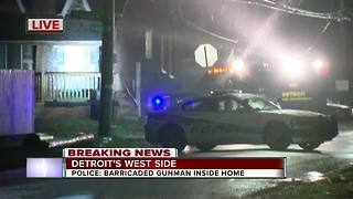 Barricaded gunman situation on Detroit's west side - Video