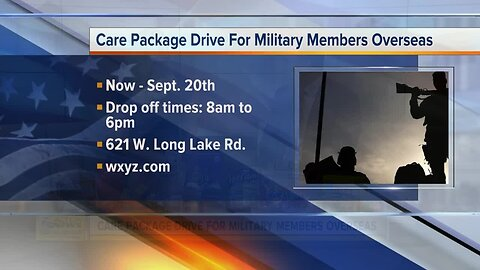 Care Packages for U.S. Troops
