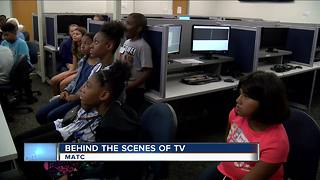 Local grade school students learn about TV production on MATC campus - Video