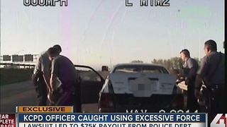 KCPD officer caught using excessive force - Video
