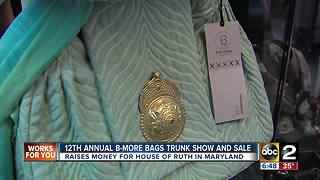 Maryland House of Ruth held its 12th annual B-More Bags trunk show - Video