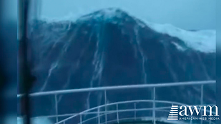 Ship Traveling In The North Sea Films One Of The Largest Waves Ever - Video