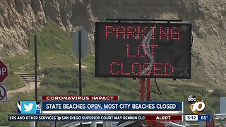 State beaches open, most city beaches closed