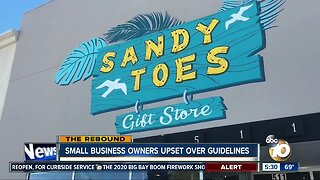 Small business owners upset over guidelines