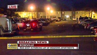 Police investigating shooting at Roseville apartment complex