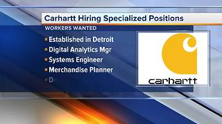 Workers Wanted: Carhartt hiring specialized positions - Video