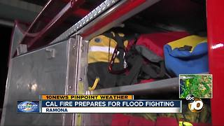 Cal Fire prepares for flood fighting - Video