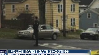 Police investigate Jamestown shooting - Video