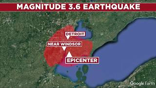 3.6 magnitude earthquake rattles metro Detroit - Video