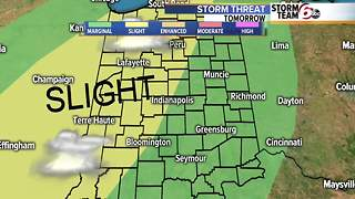 Severe storm threat Wednesday - Video