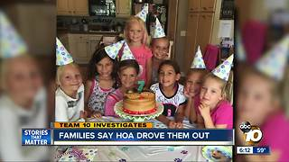 Families say HOA drove them out - Video