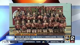 Good morning from Havre De Grace High School's cheerleading squad - Video