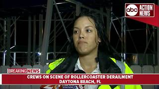 Officials give update on rollercoaster derailment in Florida