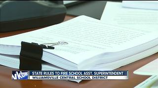 State rules to terminate Williamsville school assistant superintendent - Video