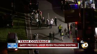 Safety protocol under review following shooting - Video