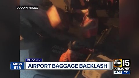 Video shows Southwest baggage handlers throwing customer's cargo